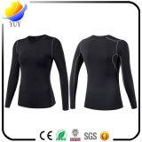 Damen Schnell-Trockner Sports lange Hülsen-Yoga-Kleidung Eignung-T-Shirt