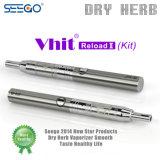 Herladen II van Vhit van Seego de het Droge Kruid van de Uitrusting & Pen van de Verstuiver van de Was met de Textuur van het Roestvrij staal