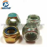 Couple de serrage qui prévaut autobloquant Type DIN985 DIN982/DIN985 en acier au carbone Gr5.8 Gr4.8 Gr8.8 GR10.9 Color-Zinc hexagonal galvanisé écrou en nylon