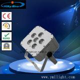 Guangzhou-Fabrik-Preis-Lithium-Batterie Uplight 12PCS UVled dünnes NENNWERT Licht, Hochzeitsfest-Wand-Unterlegscheibe