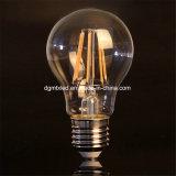 Bulbo claro de cristal e27, 3W de la cubierta LED del filamento