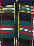 Camisa de polo hecha punto lanas merinas azules del tartán de los hombres