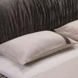 Кровать кожи мебели спальни конструкции двойной кровати способа самомоднейшая (FB8022)