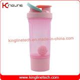 [800مل] بلاستيكيّة بروتين رجّاجة مصنع مع كرة بلاستيكيّة & أحد قعر وعاء صندوق ([كل-7093ب])