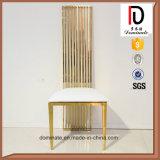 Самомоднейшая новая гостиница нержавеющей стали золота конструкции обедая стул