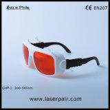 Excímero, ultravioleta, gafas de seguridad verdes de los anteojos de la protección del laser para 266nm 355nm 515nm 532nm de Laserpair