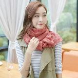 Dünner normaler gefärbter Baumwollform-Schal mit Check-Windung (Hz221)