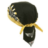 Kundenspezifischer Drucken-Polyester-Pirat bedeckt Hüte mit einer Kappe