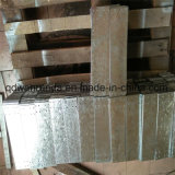 Correas de acero con los orificios perforados