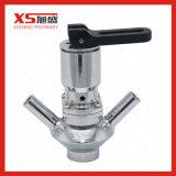 Aço inoxidável sanitárias SS316L Germfree asséptica da válvula de amostragem