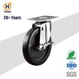 3 Zoll PA-weißes Schwenker-Laufkatze-Fußrollen-Rad mit Wellen-Bremse für Industrie