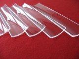 Placa de cristal cuadrada de cuarzo transparente