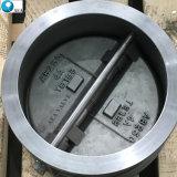 API 6D haute pression en acier inoxydable à embase double plaque double clapet Wafer