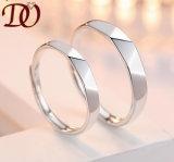D 모양 결혼 반지 925 순은 반지