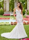 Платье шнурка планок спагеттиа Bridal Appliques Beaded платье венчания PA98073