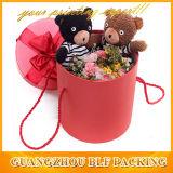 Red Hat раунда подарочные коробки бумаги цветы (BLF-GB107)
