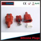 Fiche industrielle 250V en caoutchouc de silicones de température élevée
