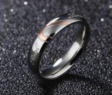 Correspondência de coração a promessa de Titânio Anel para casal 316L de aço inoxidável anéis de bandas de casamento