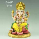 Ganesh Hindu God Head樹脂のインドの主象