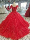 Новый красный цвет прибытия линия Sparky платье венчания