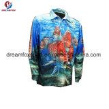 服装のカスタム昇華印刷のトーナメント釣ワイシャツを採取する長い袖