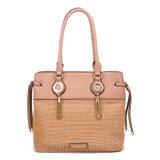 가장 새로운 밀짚 및 Tote Women Handbag PU 숙녀