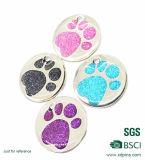 Kundenspezifische Metalltatze-Hundeplakette für Haustier-Dekoration