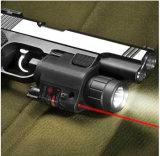 Lightweightedのプラスチックハウジングコンボ赤いレーザーの視力および200内腔のクリー族Q5 LEDの懐中電燈