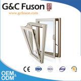 Ventana de aluminio europea de madera sólida del estilo con la apertura de la inclinación y de la vuelta