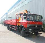Flatbed Vrachtwagen van Dongfeng 6X4 met de Telescopische Boom van de Kraan van 10 Ton de Opgezette Kraan van 12 Ton Vrachtwagen