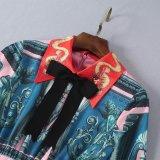 주문을 받아서 만들어지는 인쇄된 순수한 실크 직물 형식 접어젖힌 옷깃 활 복장