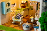 Miniature Wooden House with Kids Birthdays Gift