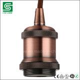 Portalámpara del metal del socket E27 de la bombilla de Edison de la vendimia