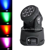 5 in 1 mini Rgbwawash indicatore luminoso capo mobile di 7X12W LED