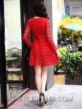 Платье партии платья шнурка знаменитости женщин конструкции способа красное