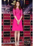 Высокое платье шнурка повелительницы Одежды Чисто Цвета Лета офиса способа сексуальное для женщин