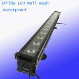 30W 14PCS RGBWA 5 en 1 iluminación al aire libre de la colada del LED