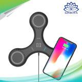 2018 novíssimo 3NO1 portátil universal Fast Qi Carregador sem fio Carregador USB do telefone do suporte para a Samsung /iPhone 5V/1.5A titular de carregamento USB