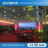 Poids léger Indoor plein écran LED de couleur (P4mm) pour la location
