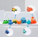 Der Ozean, der Bad-Spielzeug-Organisator für Kinder, Nahrungsmittelwaagerecht ausgerichteten Plastik sprizt, stellte Spielwaren her
