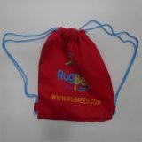 Polyester Sac avec lacet de serrage de baseball avec logo personnalisé de l'impression