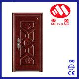 Porte en acier de garantie d'en cuivre extérieur d'entrée pour la villa