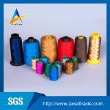 Filato cucirino tinto alta tenacia del ricamo del tessuto del poliestere 402 per il lavoro a maglia di tessitura