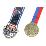 Zink-Legierungs-Sport-Medaillen-Fertigkeit-kundenspezifisches Gold überzogener Sport-Medaillen-Aufhängungs-Entwurf der Qualitäts-2018 Ihre eigene Medaille