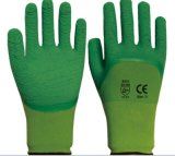 les gants fonctionnants de sûreté du polyester 13G ont enduit du latex de pli
