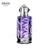 De Fles van Parfum van het Glas van de Stijl van de appel in Transparante Blauwe Deklaag