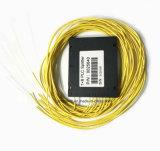 Splitter пластичной коробки PLC 1X8 оптического волокна для применения радиотелеграфа и сети и может, CCTV