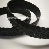 Courroie en cuir d'accessoires contrôlée par noir de mode de qualité