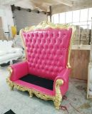 純木は切り分ける木工事の倍の椅子の純木の椅子の画像(M-X3335)と結婚する高い背部ソファーのロビーの椅子のパターンかデザインを
