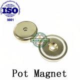 Imanes de NdFeB Pot gancho magnético con agujero avellanado